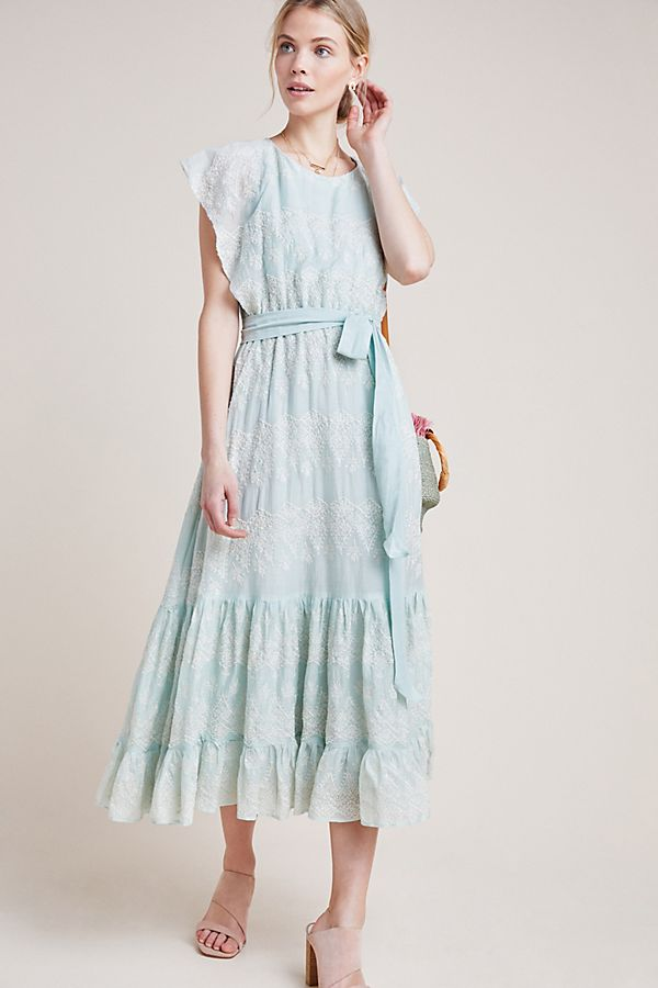 Slide View: 1: Amia Embroidered Maxi Dress