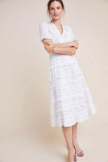 dfec29f080 Eugenie Ruffled Lace Midi Dress
