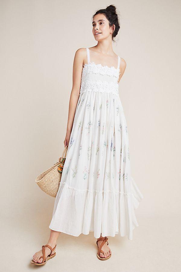Slide View: 1: Fantine Lace Midi Dress
