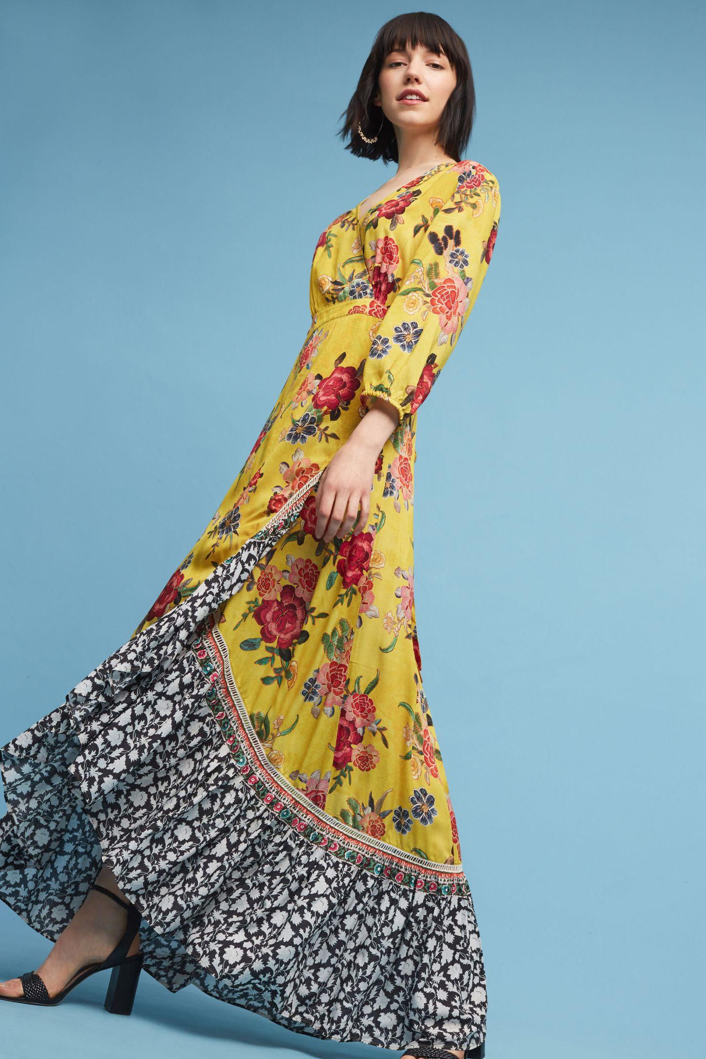 24ca953abb5f8 Farm Rio Sunlit Floral Maxi Dress | Anthropologie
