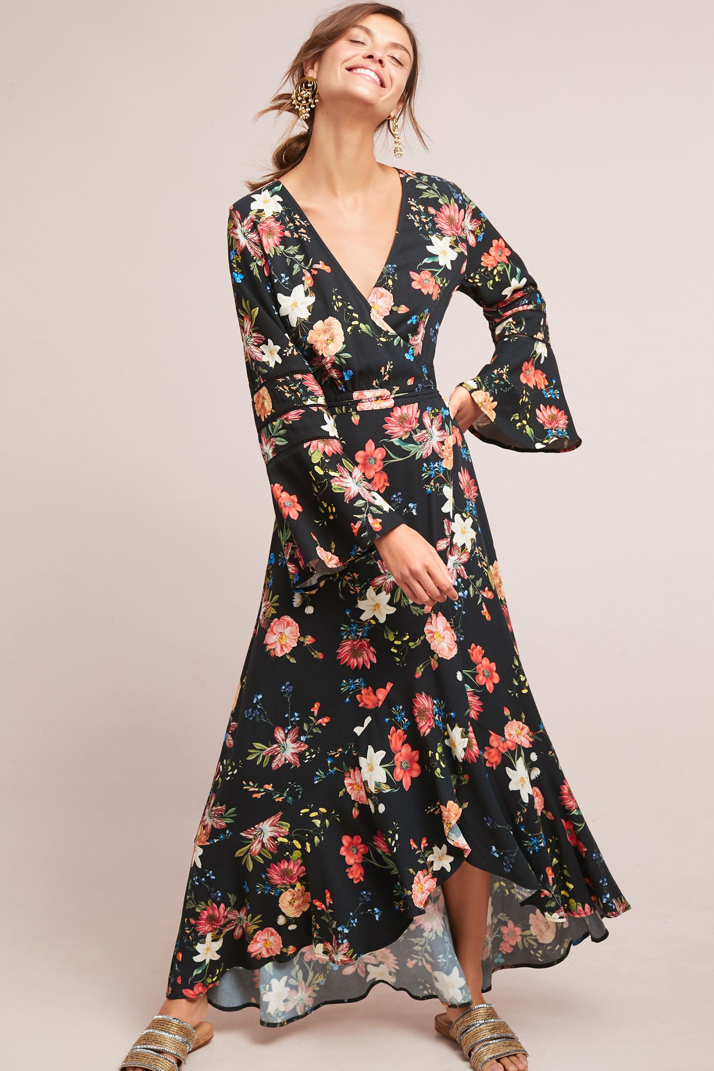 2721a203871a4 Farm Rio Summer Flower Wrap Dress | Anthropologie