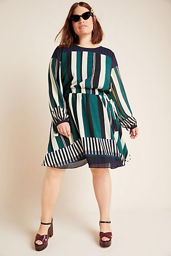 Plus Size Midi Dresses: White, Black & More | Anthropologie