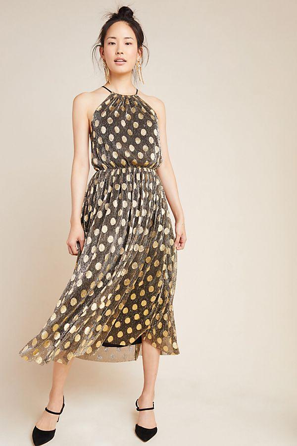 Slide View: 1: Confetti Halter Midi Dress