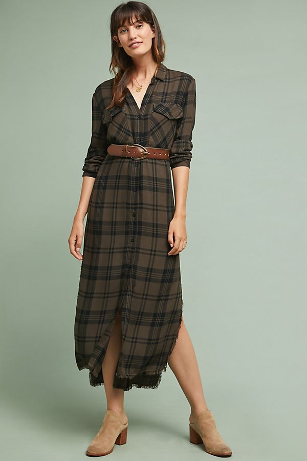 48fd7f8fdd6 Cloth   Stone Checked Shirtdress