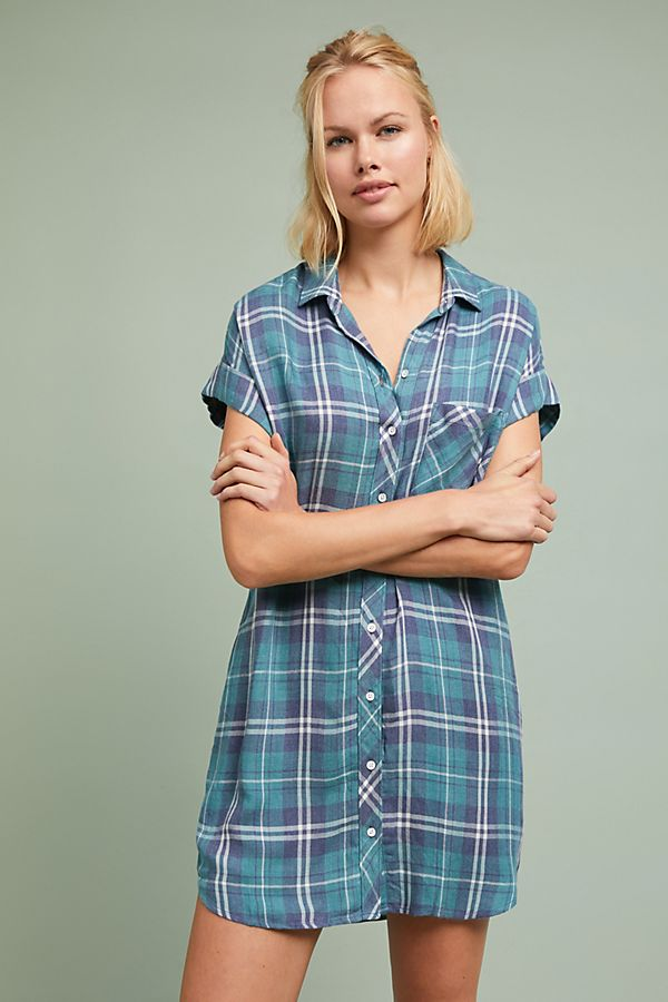 653f6d0a935 Cloth   Stone Plaid Shirtdress