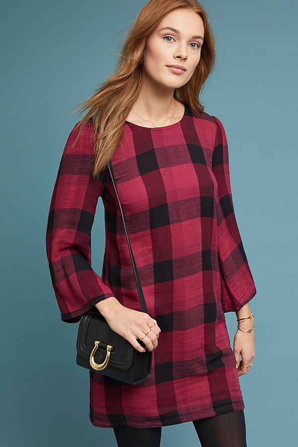 505e9e9c83c Cloth   Stone Plaid Tunic Dress