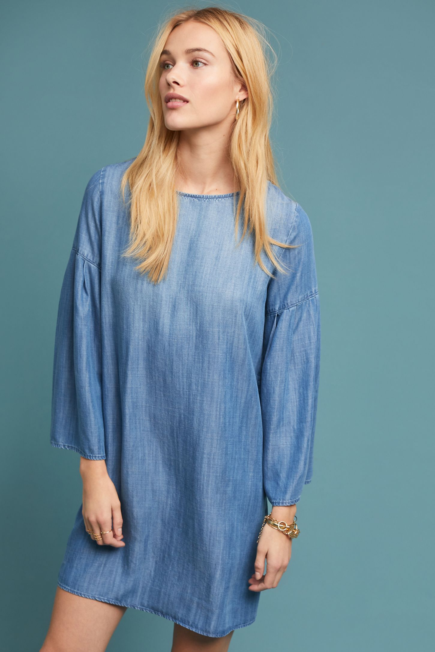 44d067d0e97 Cloth & Stone Chambray Tunic Dress | Anthropologie