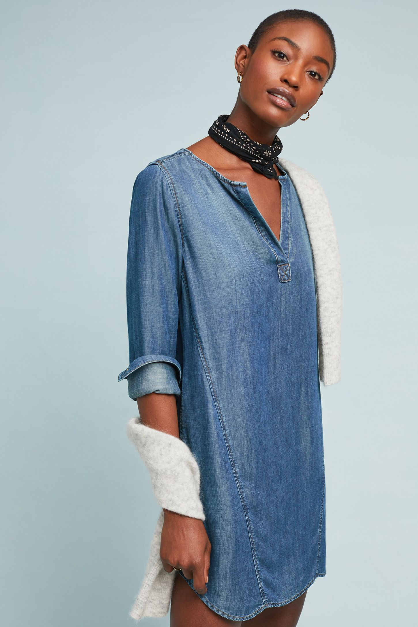 90c4298d0f0 Cloth & Stone Henley Tunic Dress | Anthropologie
