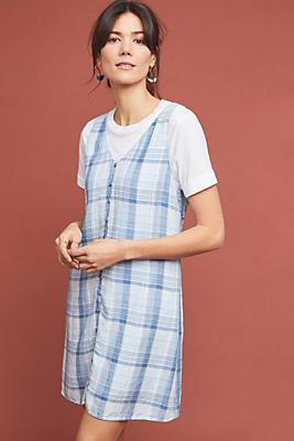 Slide View: 1: Cloth & Stone Plaid Buttondown Dress