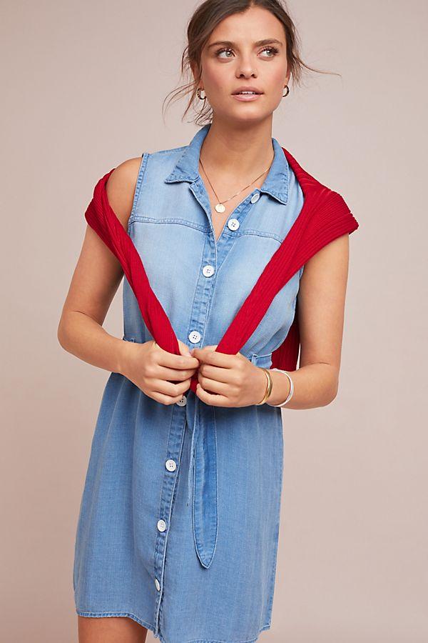 6a408014d0b Slide View  1  Cloth   Stone Belted Denim Shirtdress
