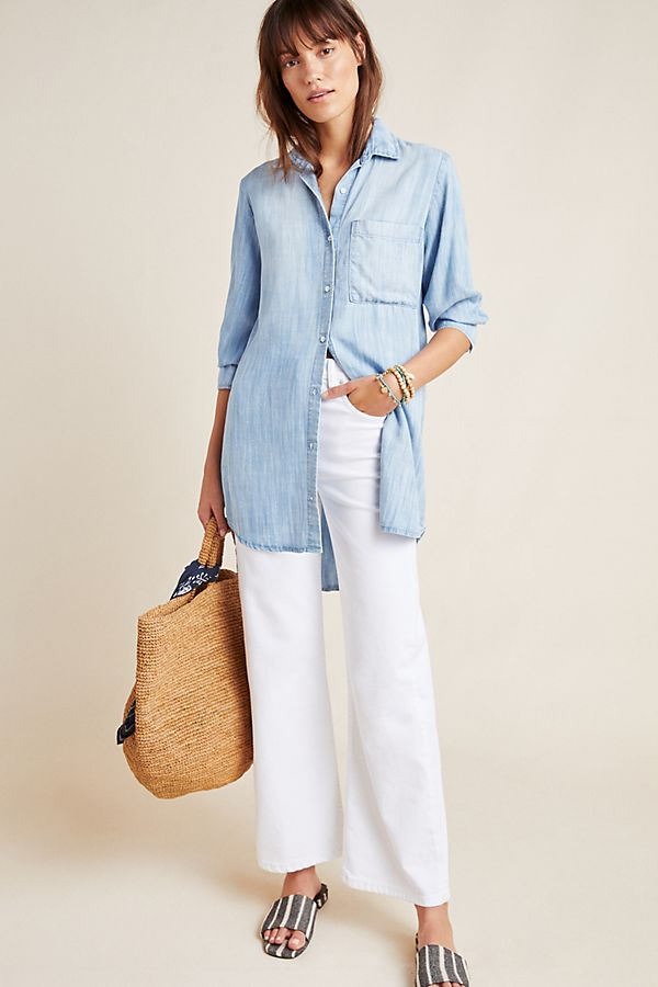 Slide View: 1: Cloth & Stone Benicia Chambray Shirtdress