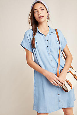 Slide View: 1: Cloth & Stone Janine Chambray Shirtdress