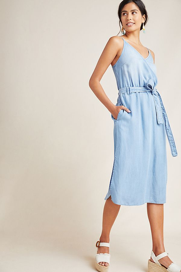 Slide View: 1: Cloth & Stone Surplice Chambray Dress