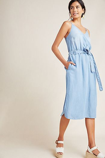 62870190e87 Cloth   Stone Surplice Chambray Dress