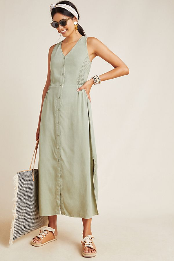 Slide View: 1: Cloth & Stone Matcha Maxi Dress