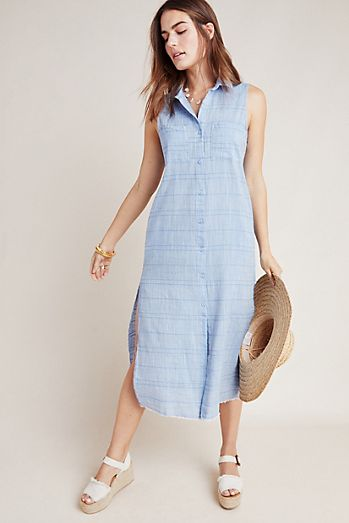 Cloth   Stone Sleeveless Shirtdress 4cd2d5fd3