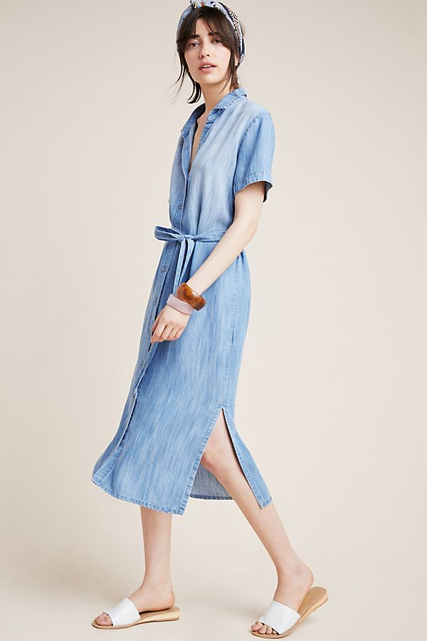 Slide View: 1: Cloth & Stone Abigail Chambray Shirtdress