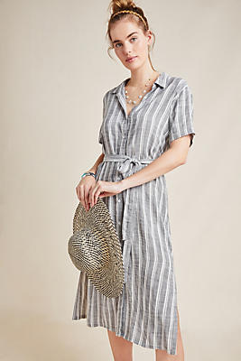 Slide View: 1: Cloth & Stone July Striped Shirtdress