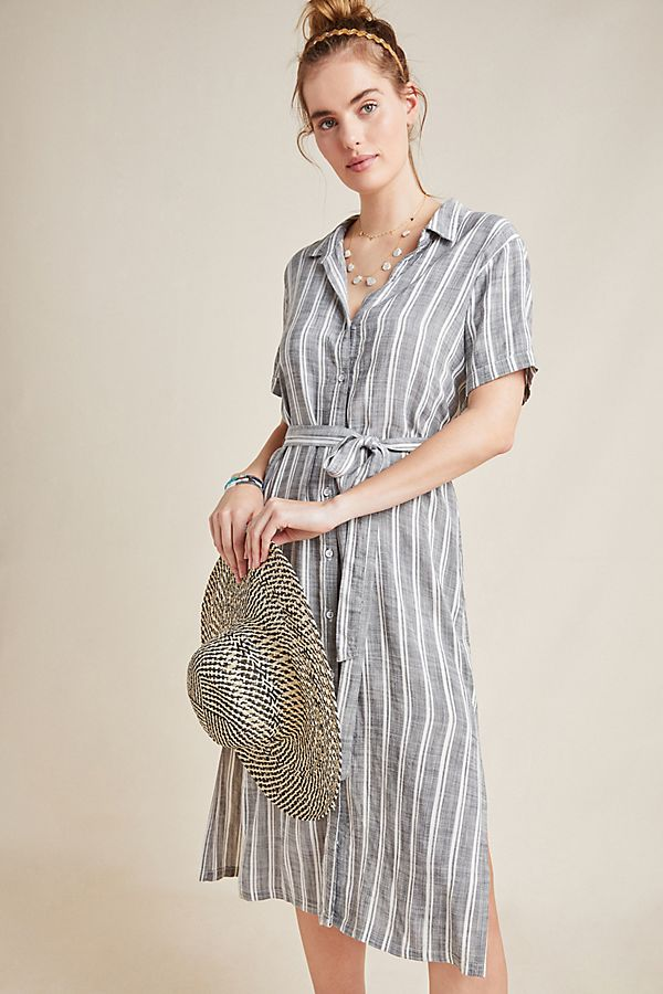 Slide View: 1: Cloth & Stone July Striped Shirtdress