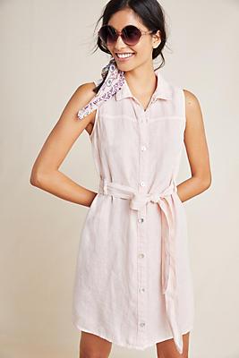 Slide View: 1: Cloth & Stone Sleeveless Linen Shirtdress
