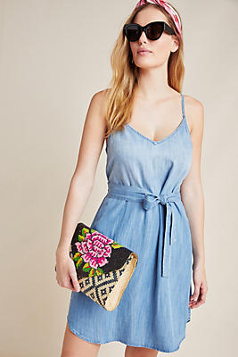 Slide View: 1: Cloth & Stone Belted Chambray Dress