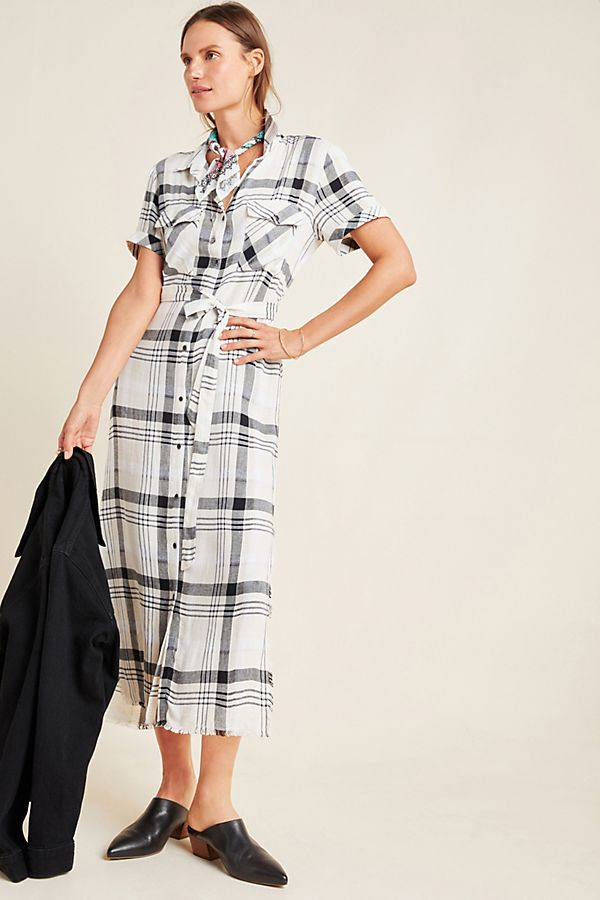 Slide View: 1: Cloth & Stone Hannah Midi Shirtdress