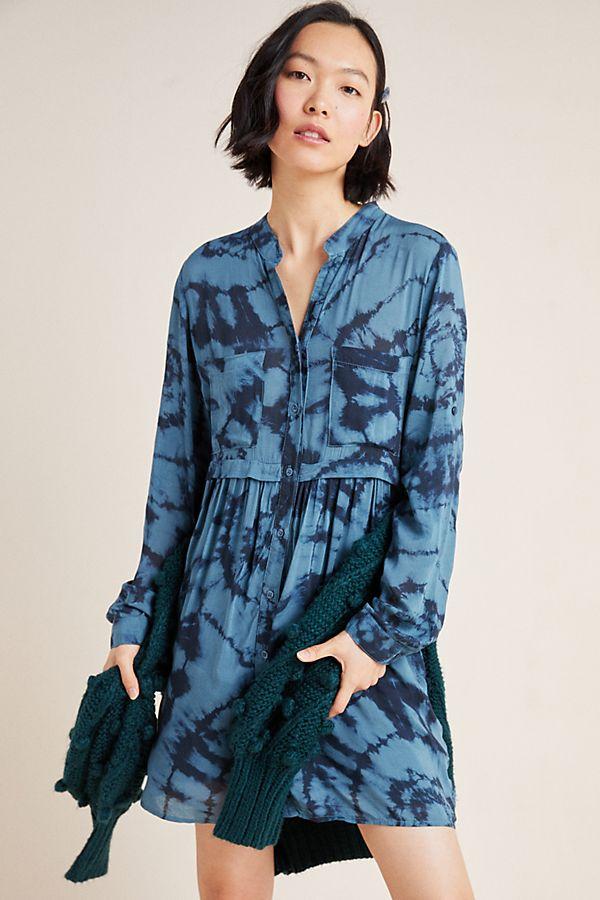 Slide View: 1: Cloth & Stone Tara Tie-Dyed Shirtdress