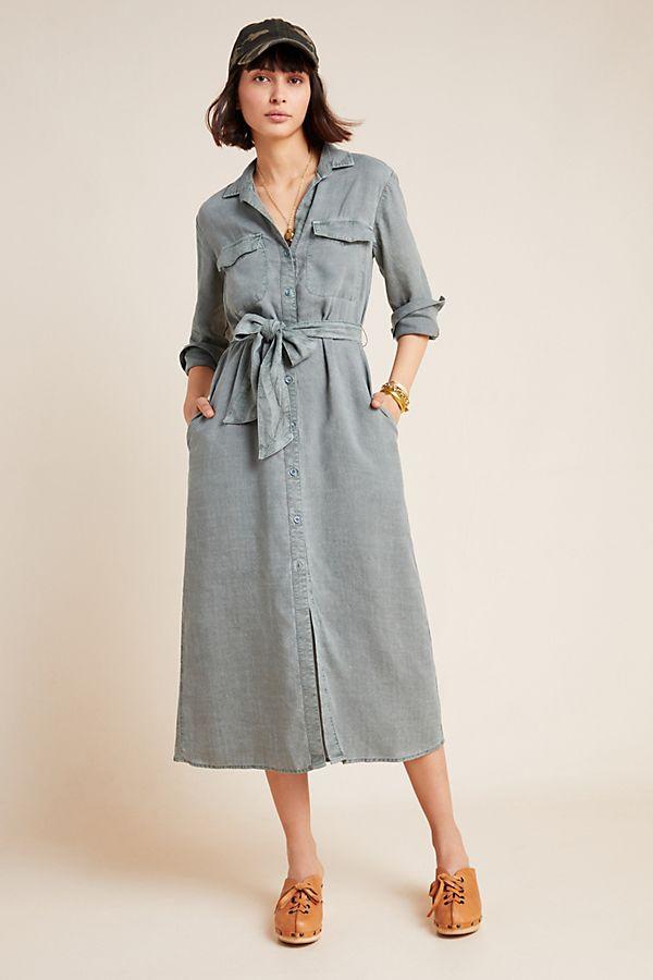 Slide View: 1: Cloth & Stone Chambray Shirtdress