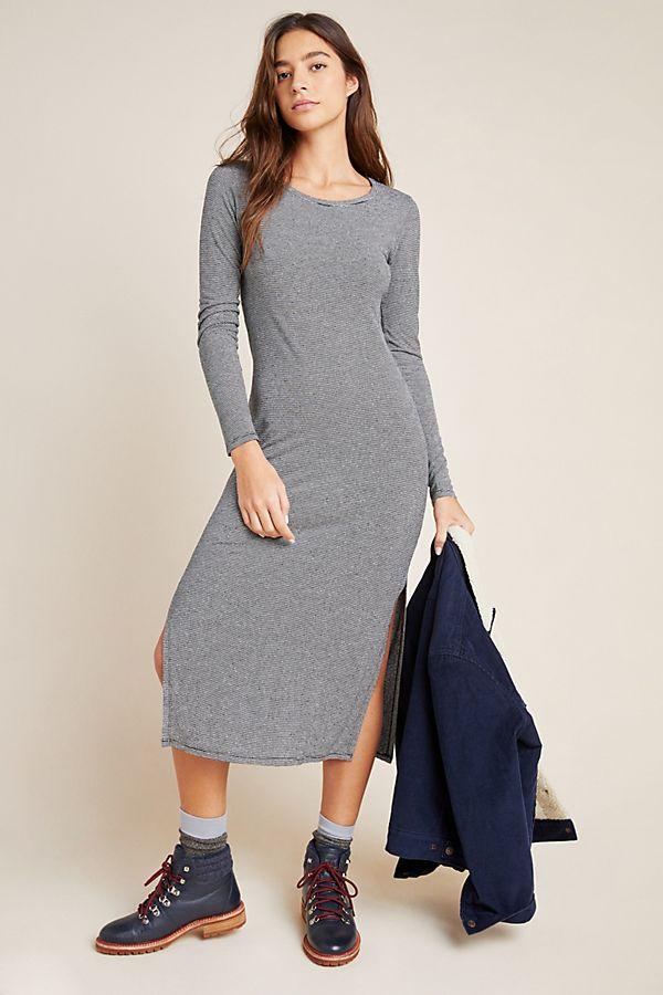 Slide View: 1: Cloth & Stone Striped Tee Dress