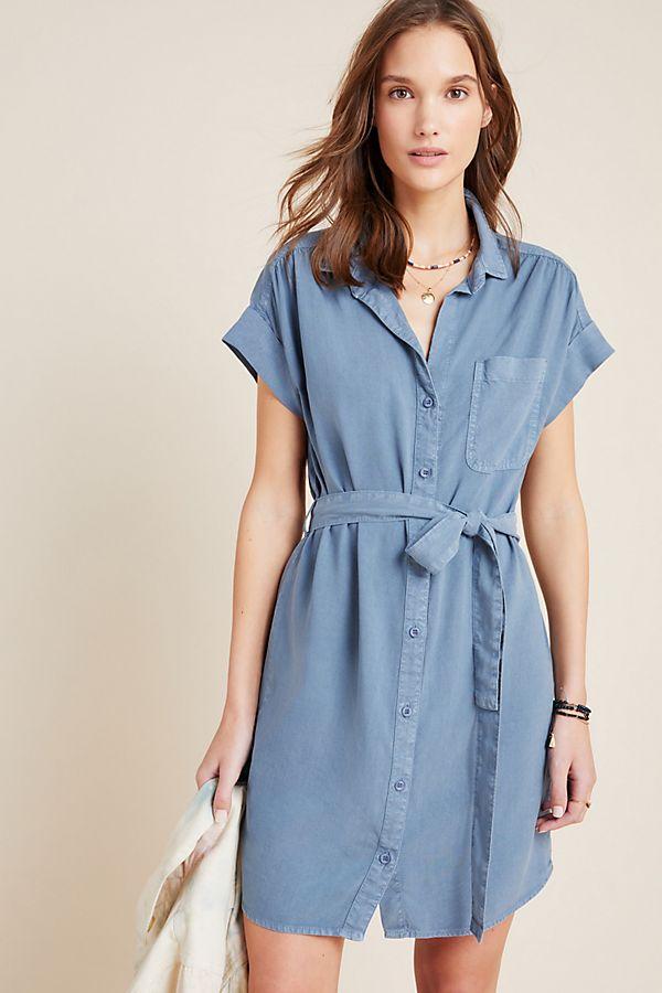 Slide View: 1: Cloth & Stone Jana Chambray Shirtdress