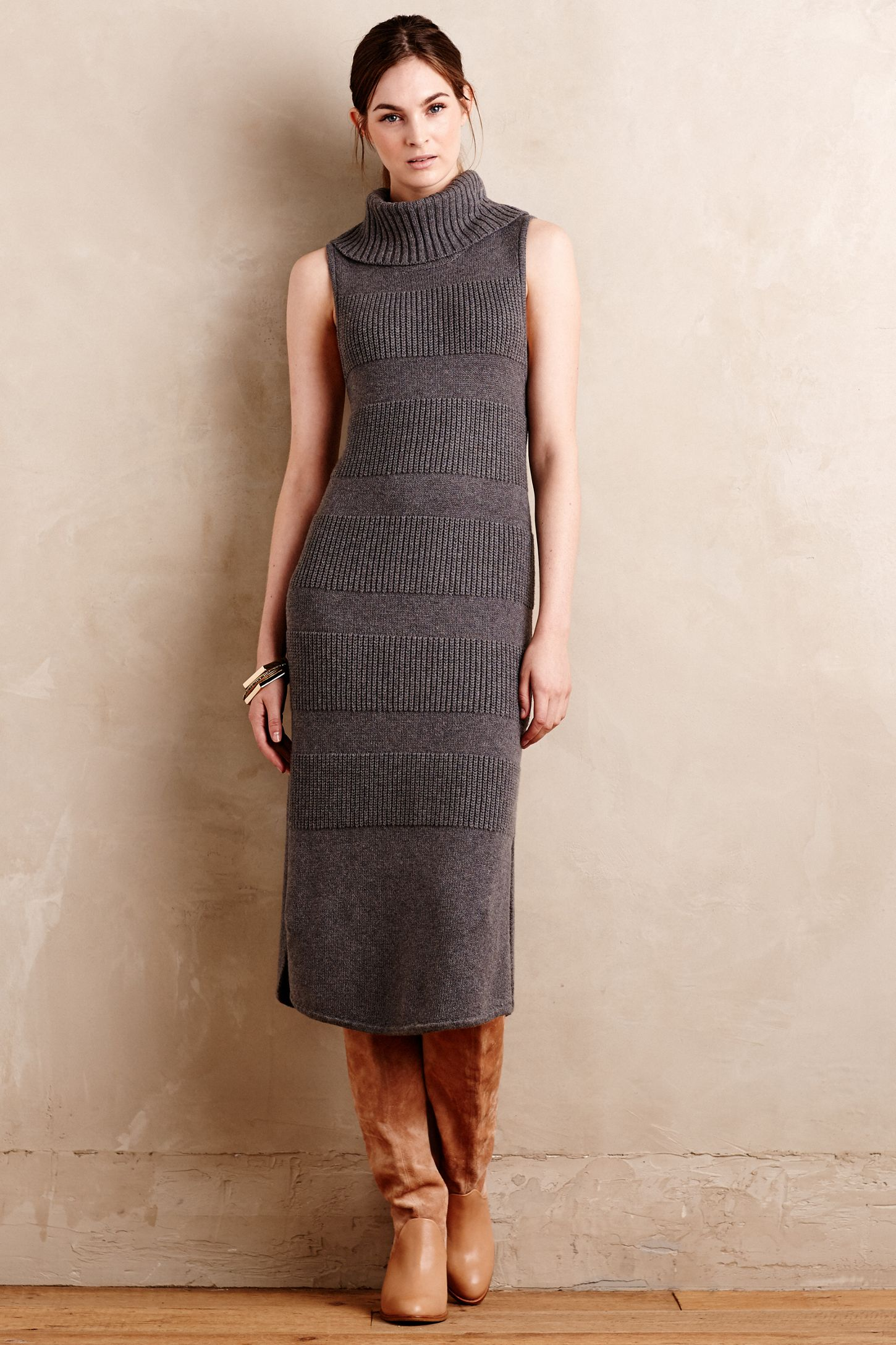 d5a416bbcf4 Turtleneck Sweater Dress