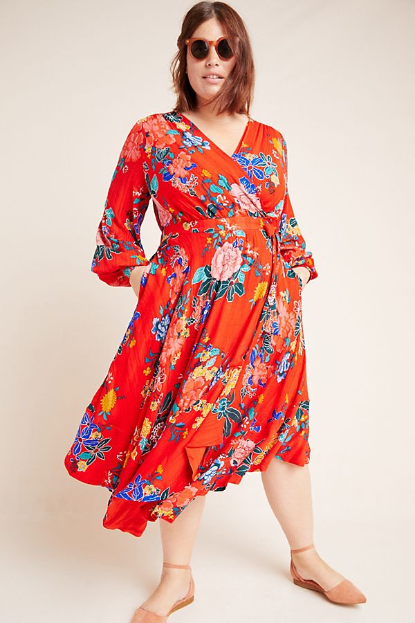 Boswell Textured Wrap Tunic by Anthropologie