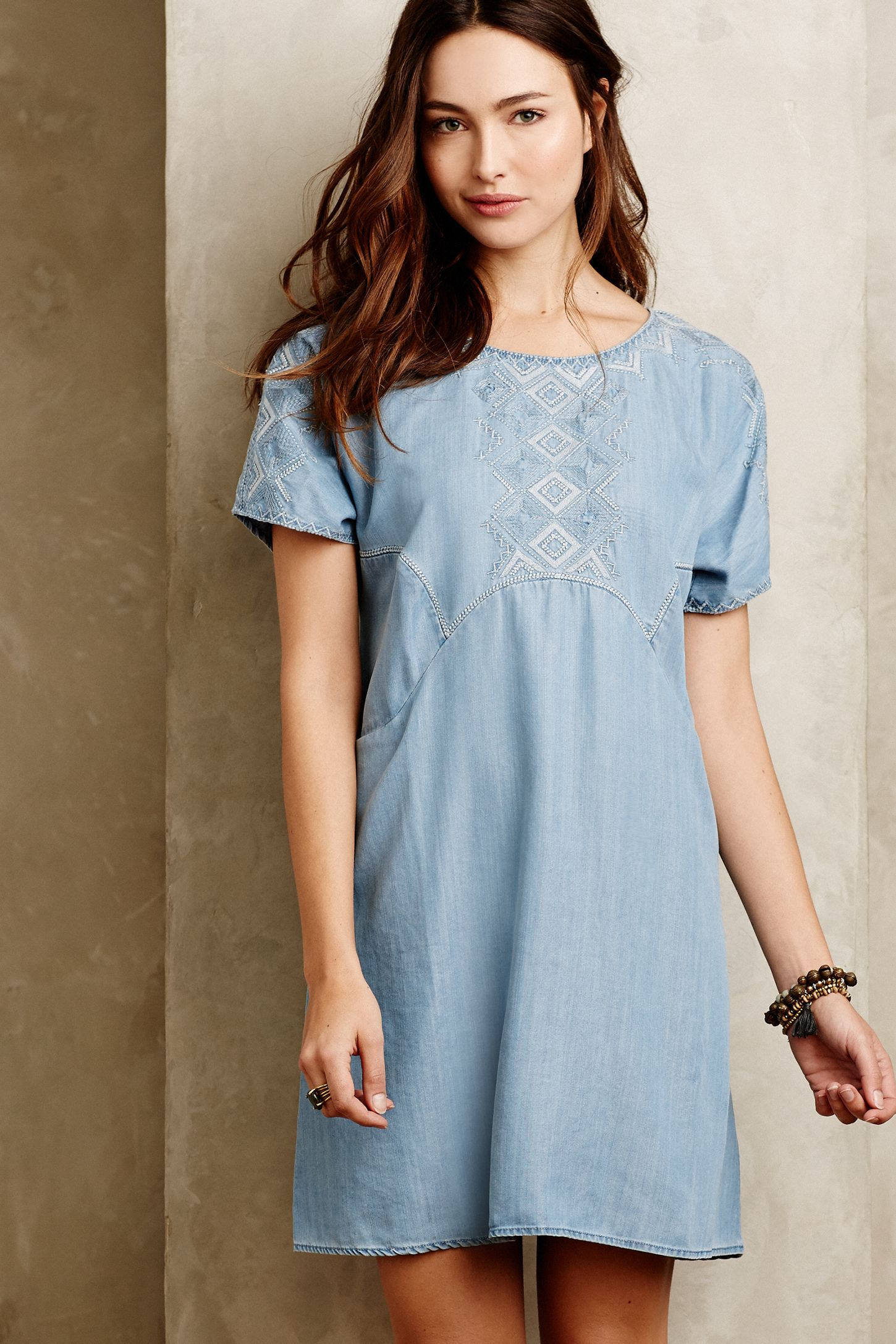 596f8817c80b White Sands Chambray Tunic | Anthropologie