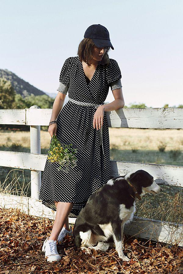 Slide View: 1: Breanna Polka Dot Midi Dress