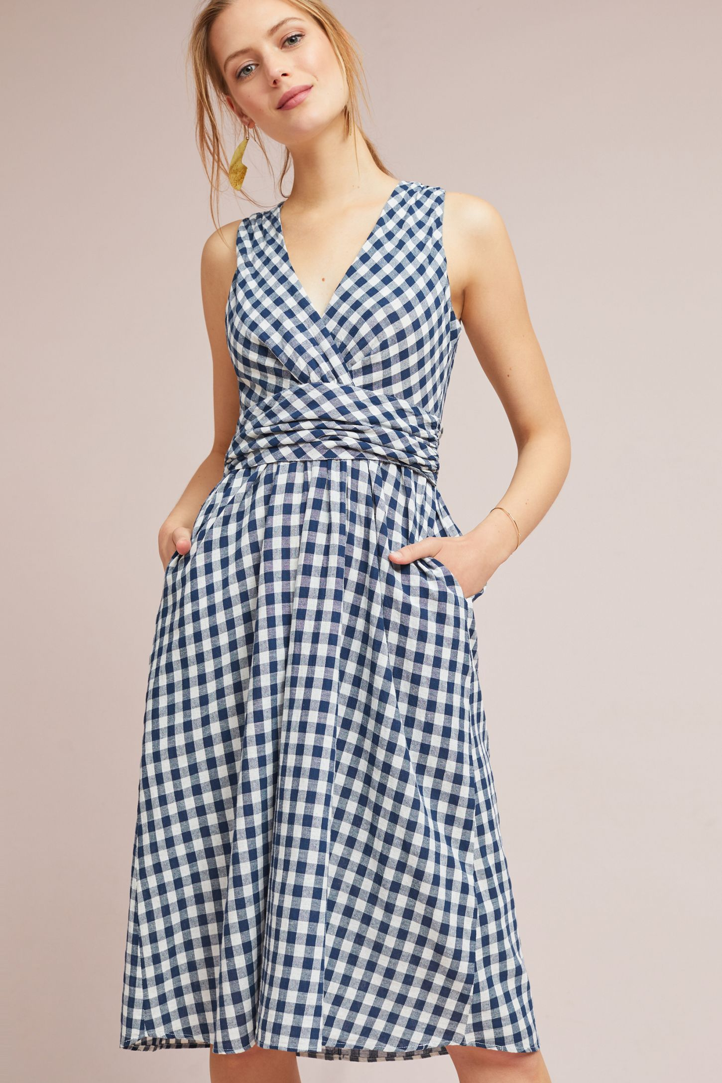 80b855306878 Grecca Gingham Midi Dress