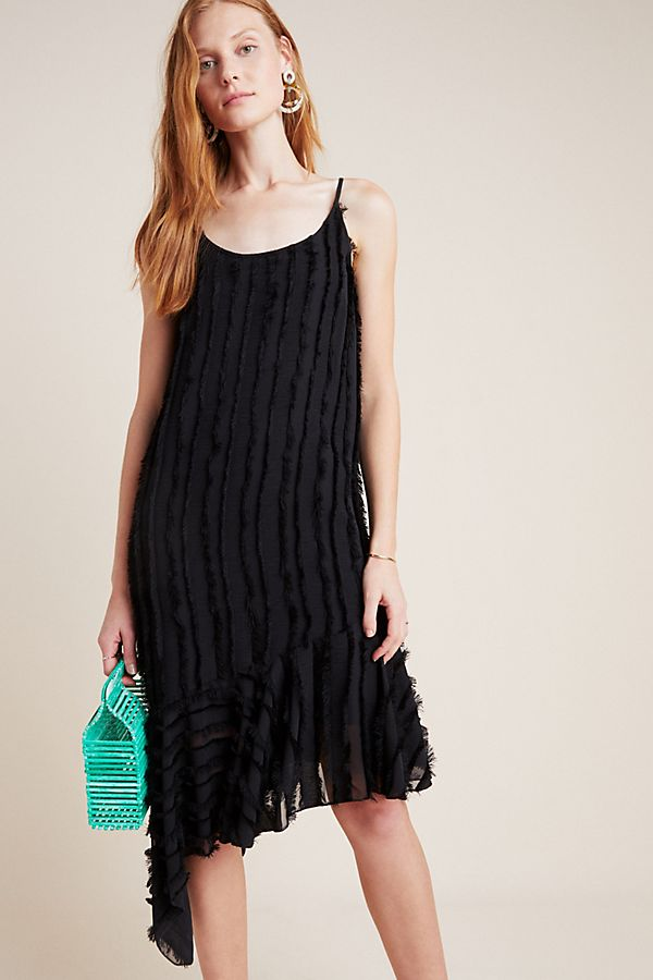 Slide View: 1: Fringed Slip Dress