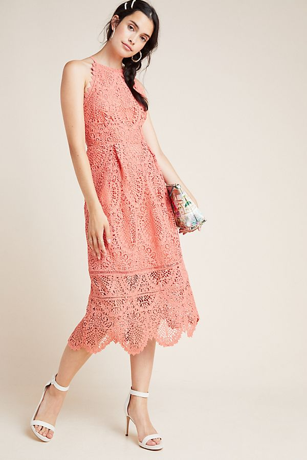 Slide View: 1: Ava Lace Midi Dress