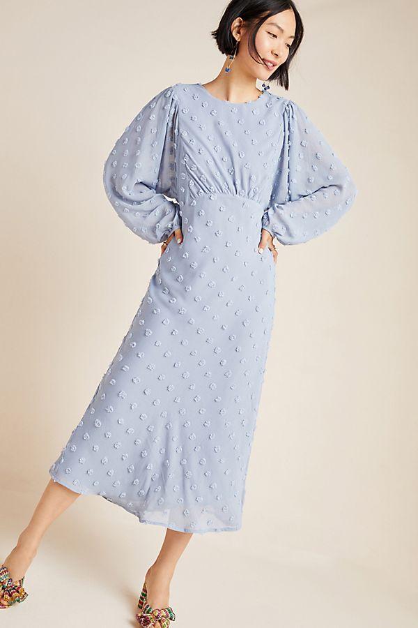 Slide View: 1: Michaela Textured Midi Dress