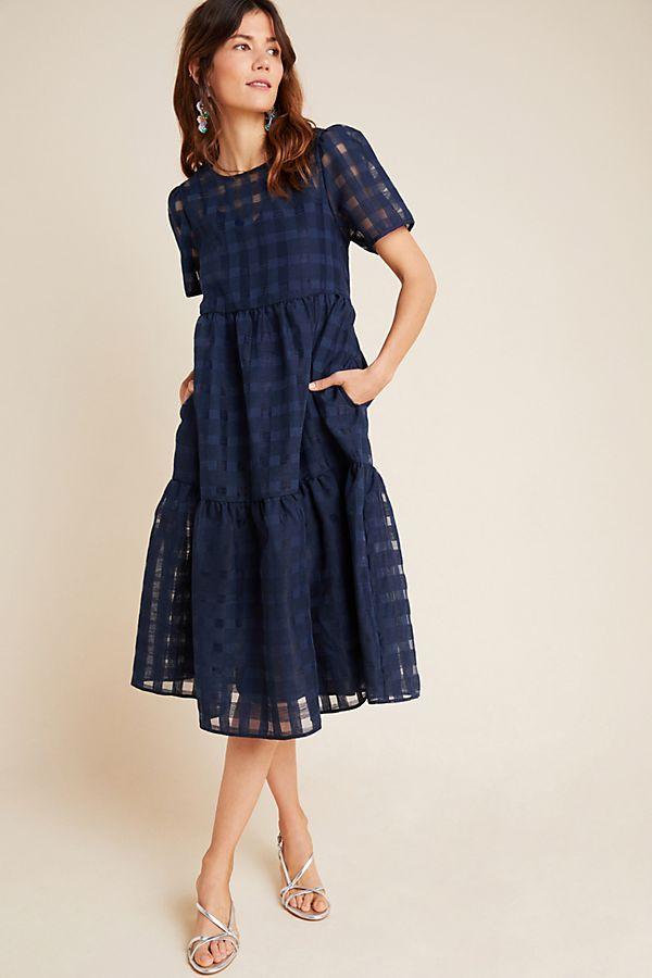 Slide View: 1: Austen Tiered Midi Dress