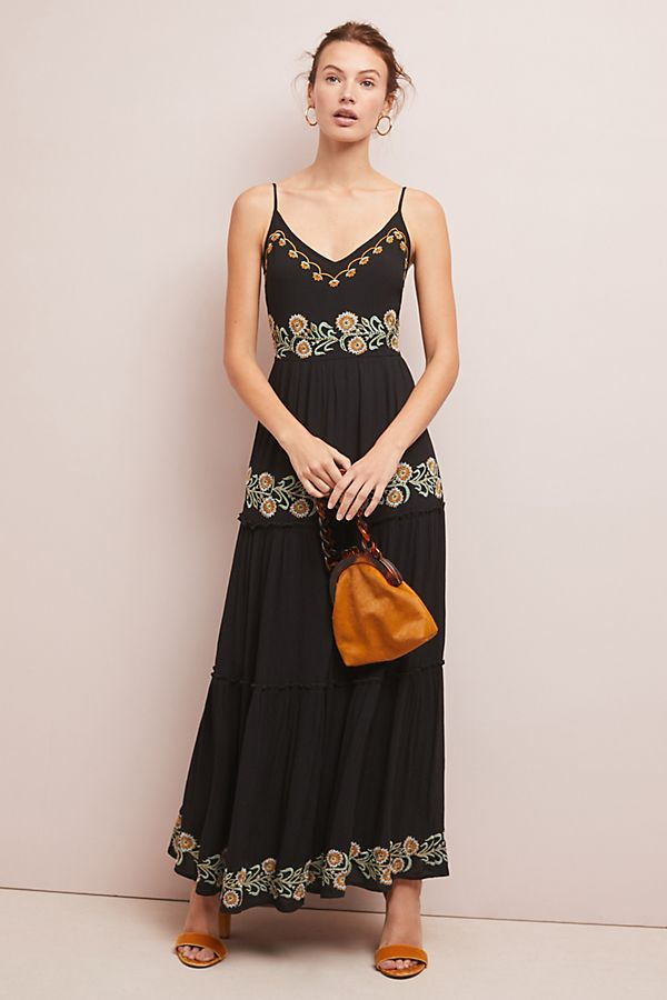 b600c910ab Sarita Embroidered Maxi Dress