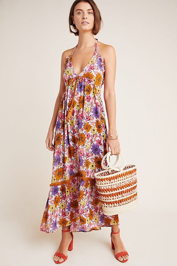 Slide View: 1: Naomi Halter Maxi Dress