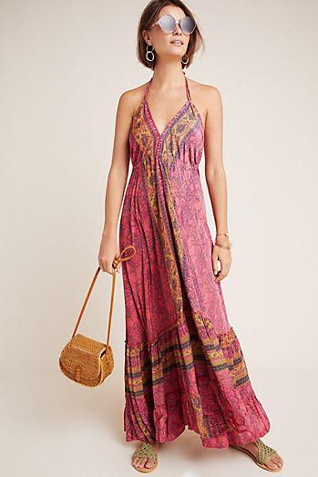 21babc2876 Yareli Halter Maxi Dress