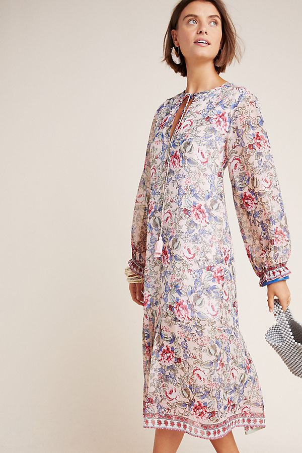 Slide View: 1: Ramona Floral Peasant Dress