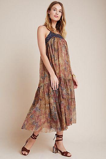 Nadine Shimmer Midi Dress