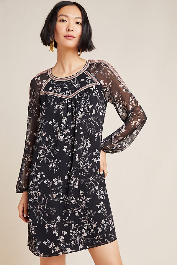 Slide View: 1: Estelle Embroidered Floral Tunic