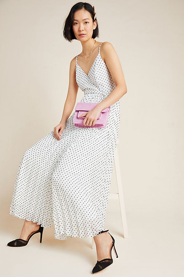 Slide View: 1: Marilyn Pleated Wrap Maxi Dress