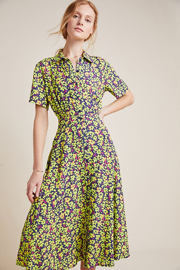 Slide View: 3: Dunaway Floral Shirtdress