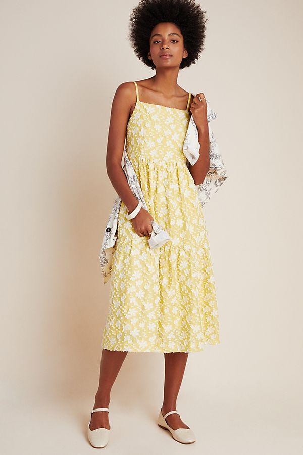 Slide View: 2: Rhonda Textured Midi Dress