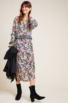 Rina Mixed Print Dress by Lily And Lionel