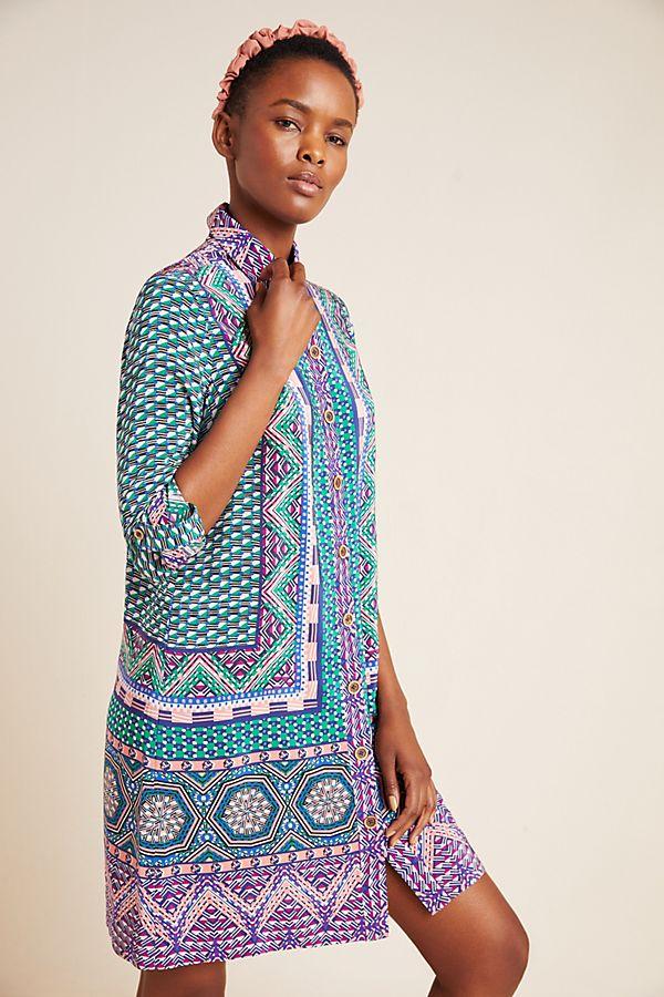 Slide View: 1: Casablanca Silk Shirtdress